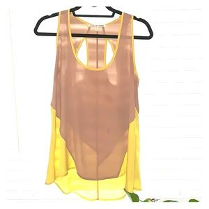 collective concepts silk racerback tank, like new